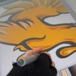 Restyling del logo di Atletica Arcs raffigurante il Gallo d'Oro di Strozzacapponi