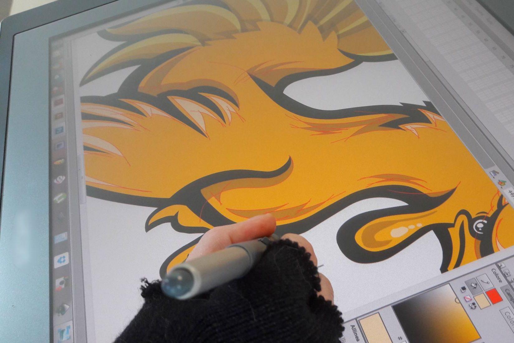 Restyling cartoon del Gallo di Strozzacapponi